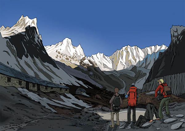 Graphic Novel 'the great Himalaya' aus dem Buch 'Was kostet ein Yak'